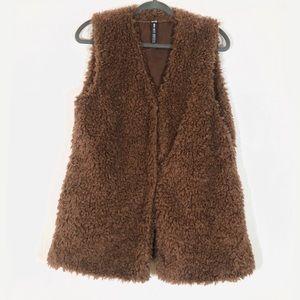 Design Lab Faux Fur Teddy Vest